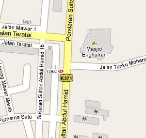 HSBC Branch In Alor Star Kedah BLRMY - Alor setar map