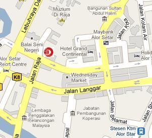 OCBC Bank Alor Setar Branch BLRMY - Alor setar map