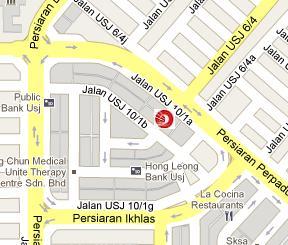 OCBC Bank Subang Jaya Branch Location Map